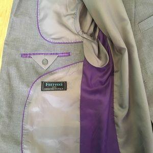 Ferrecci Italian grey men's suit size 38S